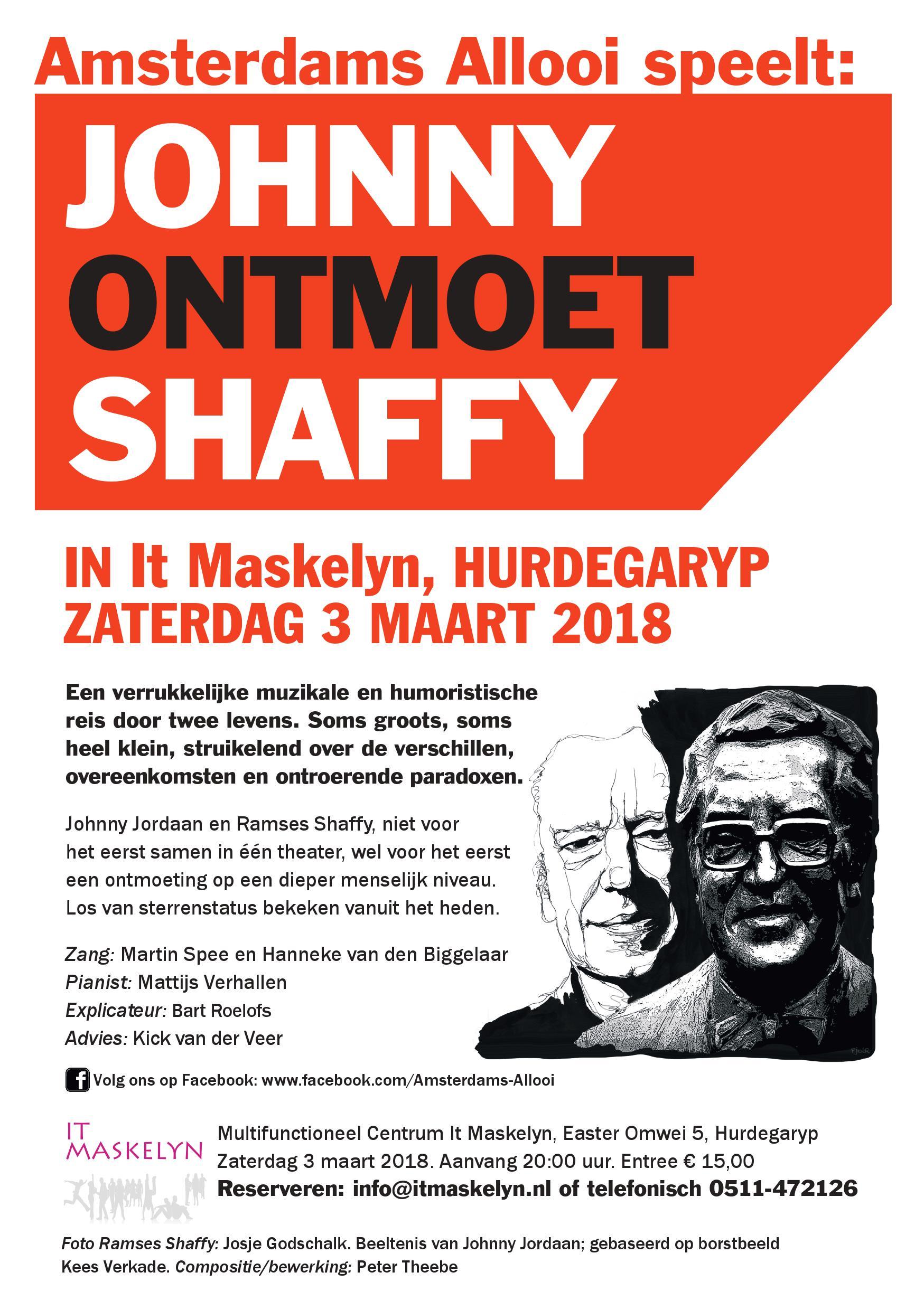 Amsterdams Allooi met 'Johnny ontmoet Shaffy'