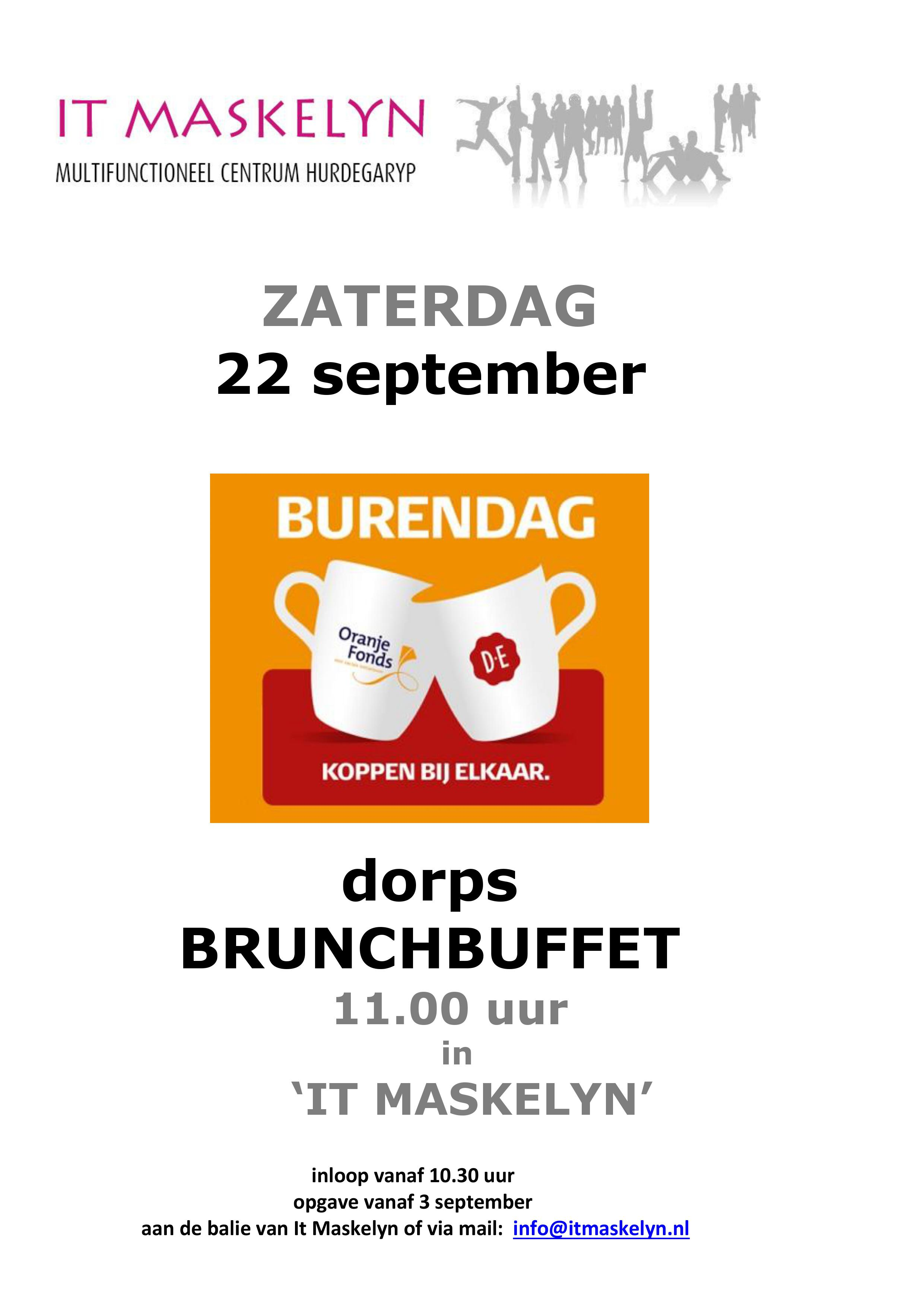 Op Burendag is er een gratis Brunchbuffet!