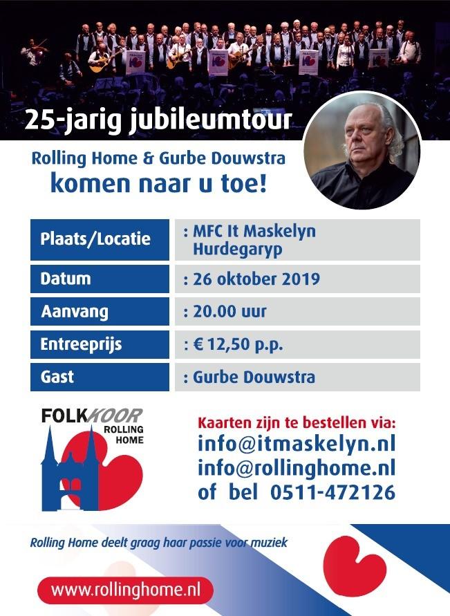 Concert Folkkoor 'Rolling Home' m.m.v. Gurbe Douwstra