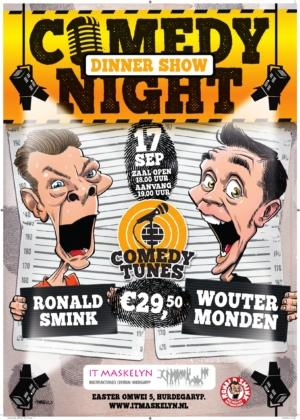 Comedynight Dinner Show, met Ronald Smink en Wouter Monden